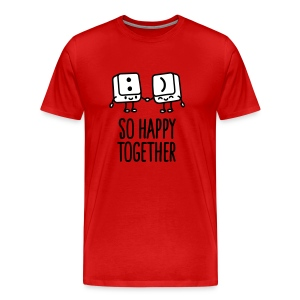 Keyboard keys smiley - So happy together T-shirts - Mannen Premium T-shirt