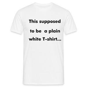 plain white t-shirt - Mannen T-shirt