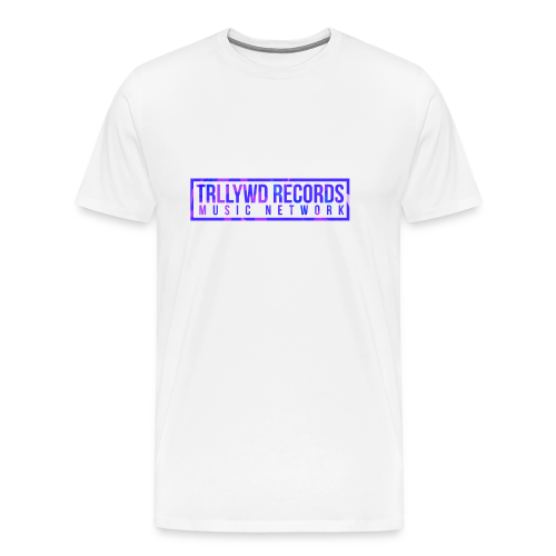 TRLLYWD Records | Purple Pink | White Shirt - Männer Premium T-Shirt
