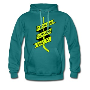 Playing Goal is Like Being Shot At Men's Hoodie - Men's Premium Hoodie