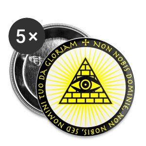Das Auge Gottes Non Nobis Domine Button Anstecker - Buttons groß 56 mm