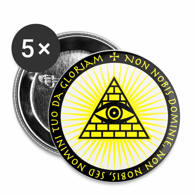Das Auge Gottes Non Nobis Domine Button Anstecker