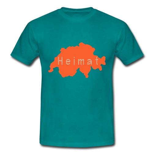 Heimat Schweiz - Grün - Männer T-Shirt