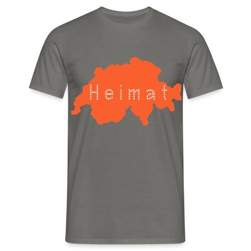 Heimat Schweiz - Graphite - Männer T-Shirt