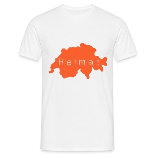 Heimat Schweiz - Weiss - Männer T-Shirt