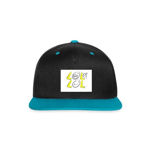 lolerlol snapback - Contrast Snapback Cap