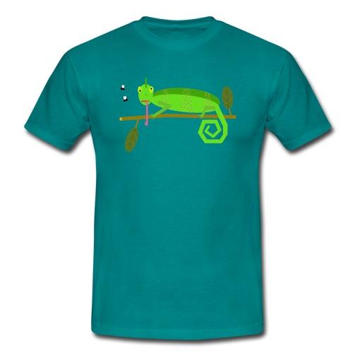 Das Chamäleon Irmgard (ohne Hintergrund) - Männer T-Shirt