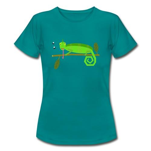Das Chamäleon Irmgard (ohne Hintergrund) - Frauen T-Shirt