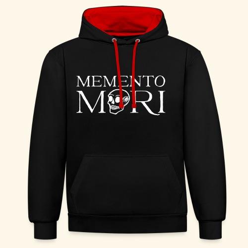 Memento Mori - Hoodie Black - Kontrast-Hoodie