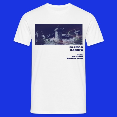 On the Banks of the Royal Blue Mersey - Men's T-Shirt