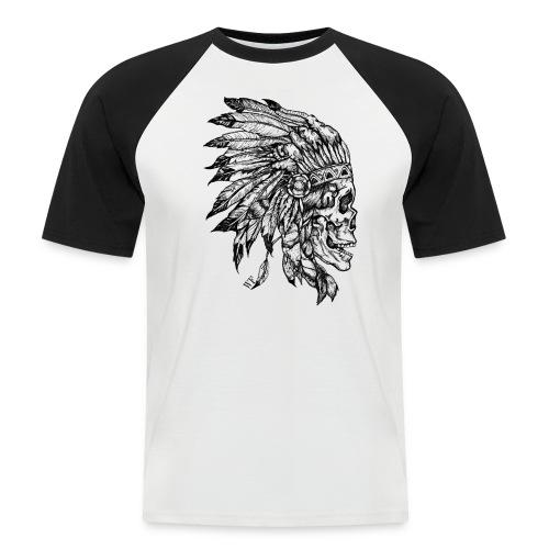 Skull WF White & Black  - T-shirt baseball manches courtes Homme