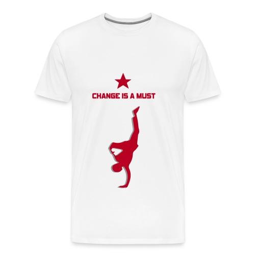 Change is a must by StreetMindz ( smz ) - Männer Premium T-Shirt