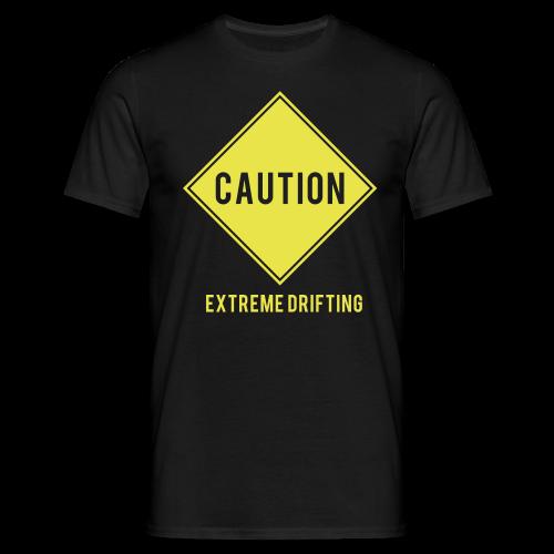 Caution Extreme Drifting Mens T - Men's T-Shirt