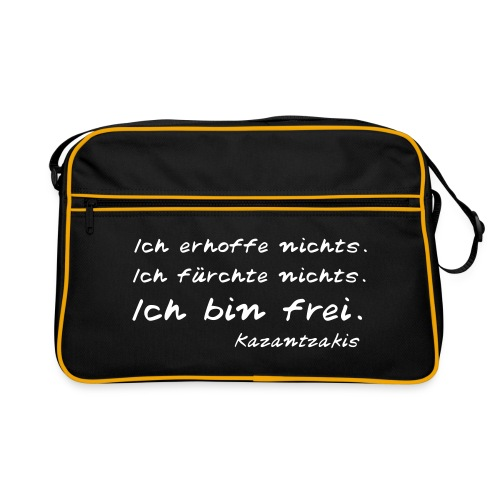 Kazantzakis Tasche: Ich bin frei. - Retro Tasche