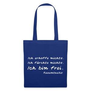 Kazantzakis Tasche - Ich bin frei - Stoffbeutel