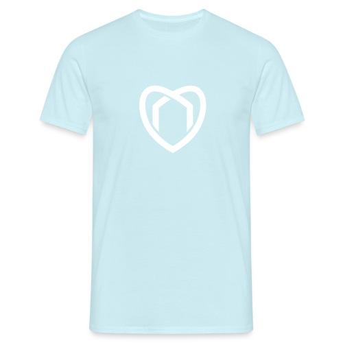 Herz T-Shirt (blau) - Männer T-Shirt