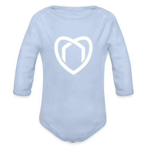 Baby Body (blau) - Baby Bio-Langarm-Body