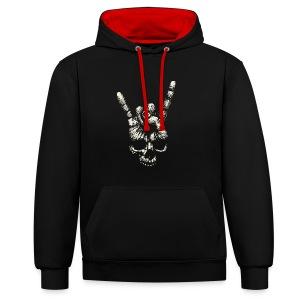 Mano Skull - Sudadera con capucha en contraste