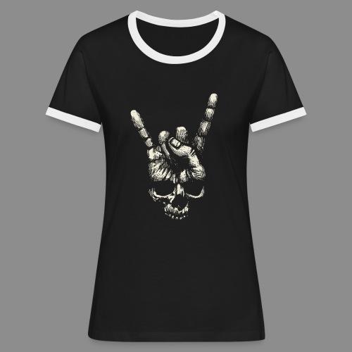Mano Skull - Camiseta contraste mujer