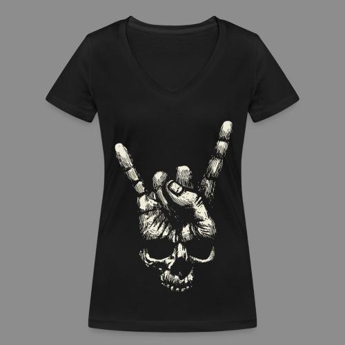 Mano Skull - Camiseta ecológica mujer con cuello de pico de Stanley & Stella