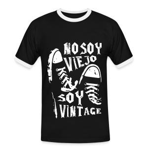 Soy Vintage - Camiseta contraste hombre