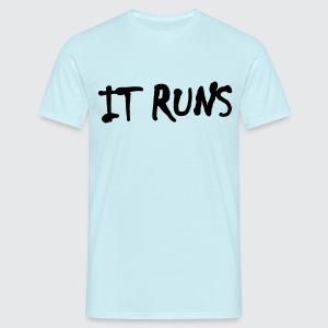 it runs - Männer T-Shirt