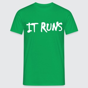it runs - Männer T-Shirt