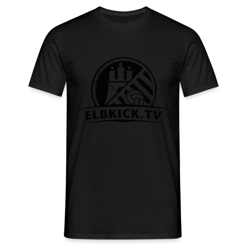 ELBKICK.TV  T- Shirt / schwarz auf schwarz  - Männer T-Shirt
