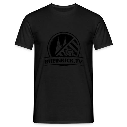 RHEINKICK.TV  T-Shirt / schwarz auf schwarz - Männer T-Shirt