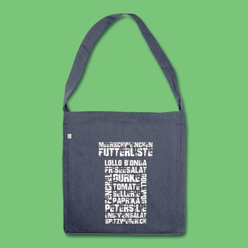 Tasche Futterliste - Schultertasche aus Recycling-Material