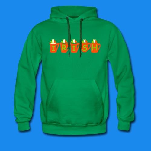 ♥ټ☘Drink Luck-Irish Shamrock Tea T-Shirt☘ټ♥ - Men's Premium Hoodie