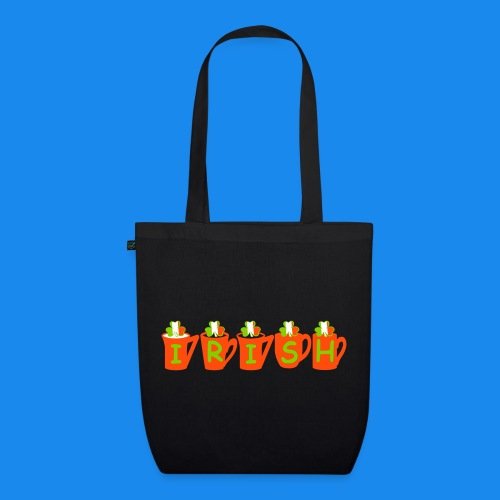 ♥ټ☘Drink Luck-Irish Shamrock Tea Tote Bag☘ټ♥ - EarthPositive Tote Bag