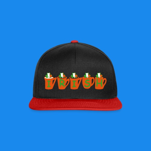 ♥ټ☘Drink Luck-Irish Shamrock Tea Snapback Cap☘ټ♥ - Snapback Cap