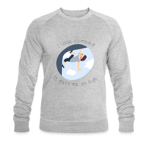 Sweat-shirt bio Stanley & Stella Homme - escalade climbing humour fun aline dessine fille dessin drawing