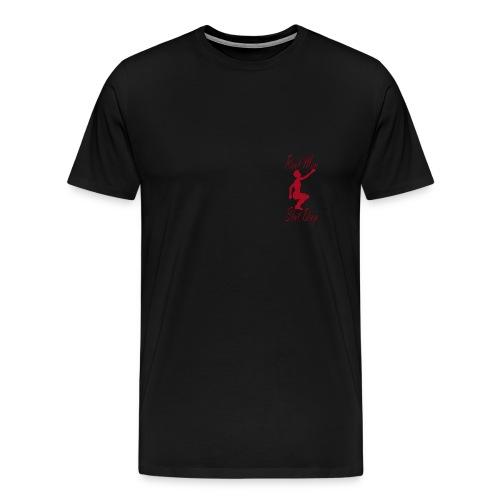 Real Men Slut Drop Red Silhouette Mens Tee - Men's Premium T-Shirt