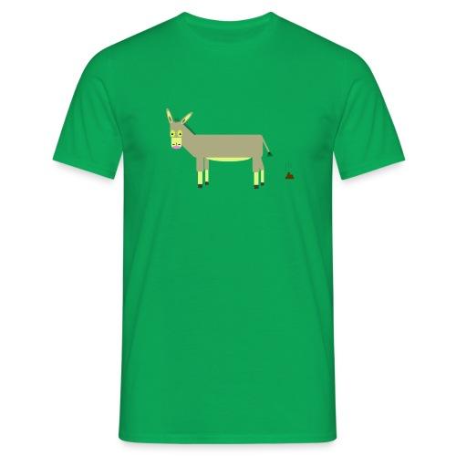 Der Esel Karl-Heinz (ohne Hintergrund) - Männer T-Shirt