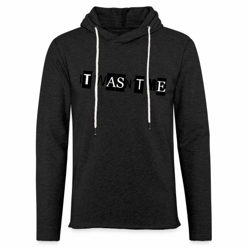 Xed ItWasntMe - Let sweatshirt med hætte, unisex