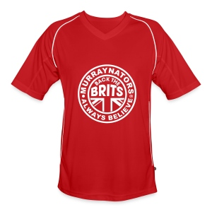 Murraynators - BtB Red V Neck Football Shirt. - Men's Football Jersey