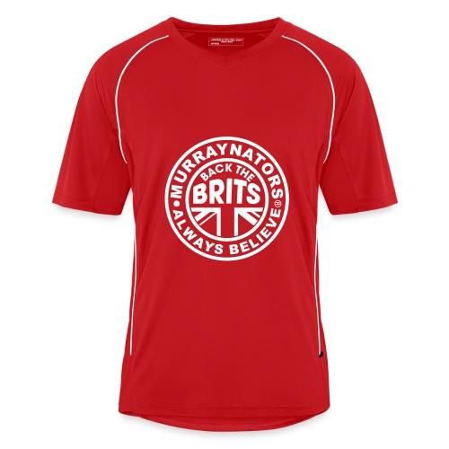 Murraynators - BtB Red V Neck Football Shirt. - Men's Football Jersey