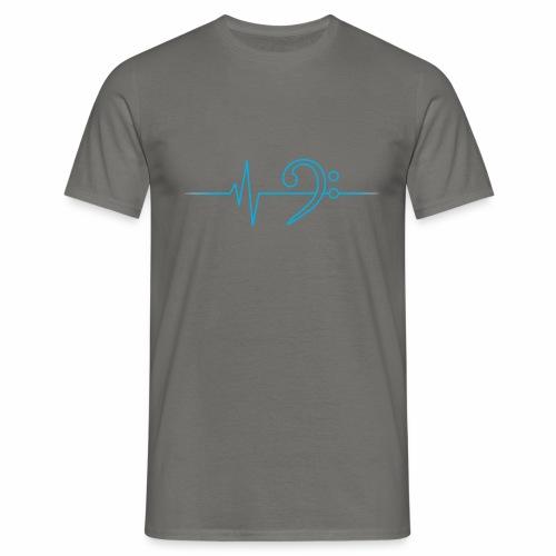BassHeartBeat Gray - Männer T-Shirt