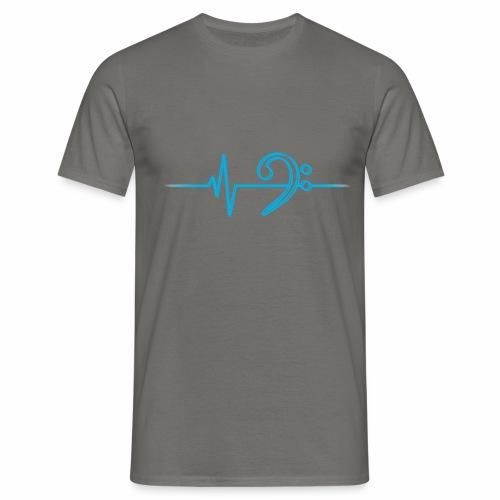 BassHeartBeat Double Gray - Männer T-Shirt