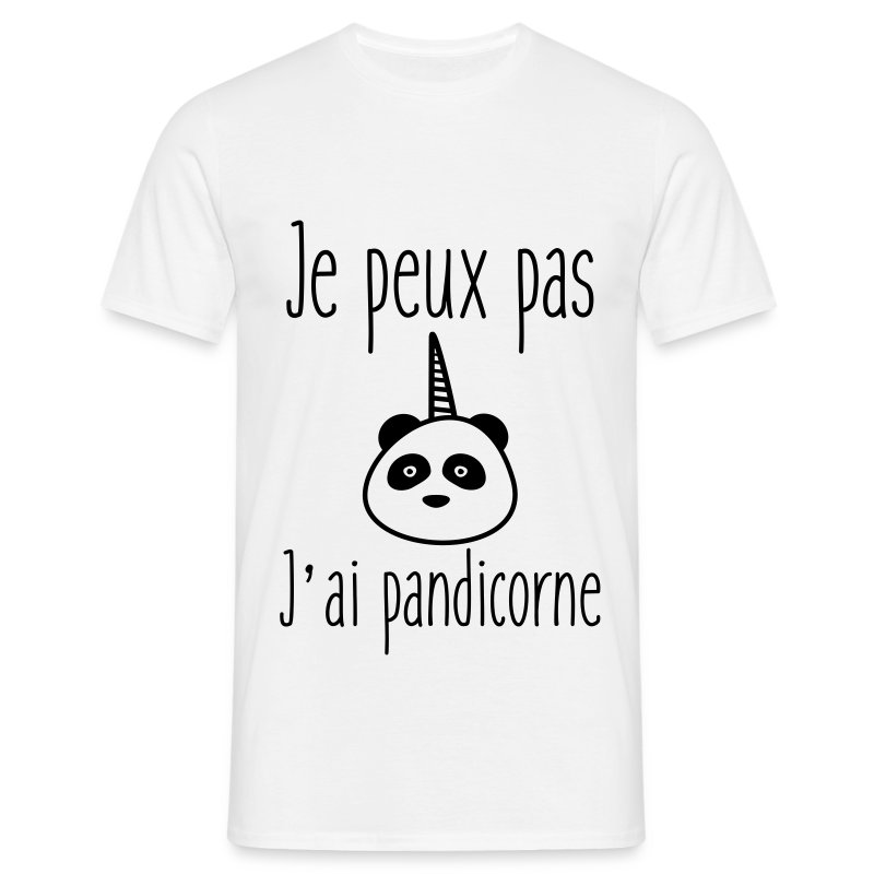 t shirt je peux pas j 39 ai pandicorne spreadshirt. Black Bedroom Furniture Sets. Home Design Ideas