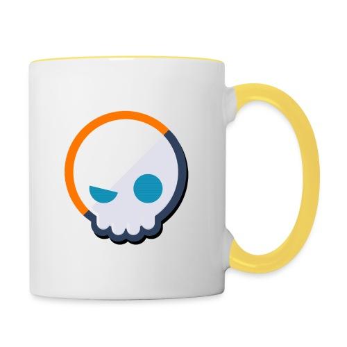 Gnoggin Contrast Mug : white/yellow - Contrasting Mug