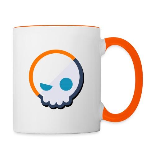 Gnoggin Contrast Mug : white/orange - Contrasting Mug
