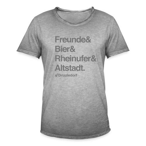 Drizzledorf Altstadt Tee Vintage - Männer Vintage T-Shirt