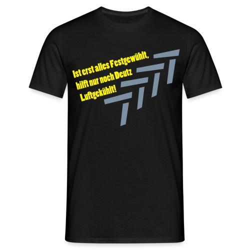 Deutz Luftgekühlt! - Schwarz - Männer T-Shirt