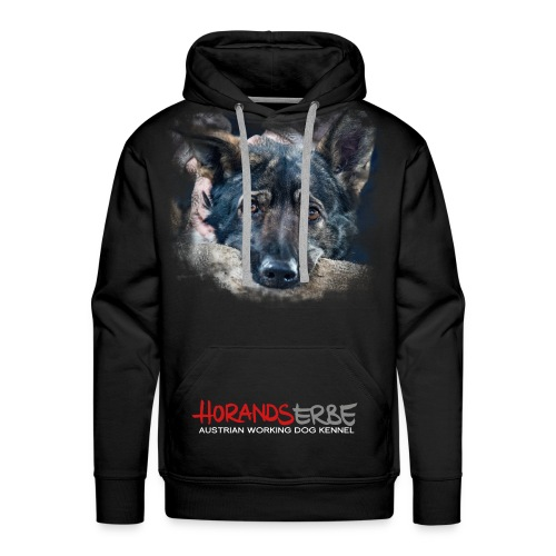 Hoodie | Hundekopf + Logo - Männer Premium Hoodie