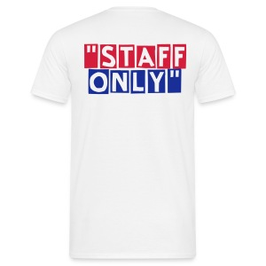 Staff Only dos rouge et bleu - T-shirt Homme