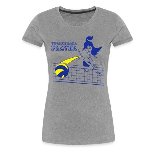 Damen-T-Shirt VOLLEYBALL PLAYER, grau - Frauen Premium T-Shirt