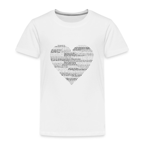 Love - Black 1 - Premium-T-shirt barn